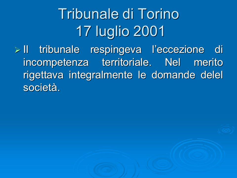Tribunale di Torino 17 luglio 2001