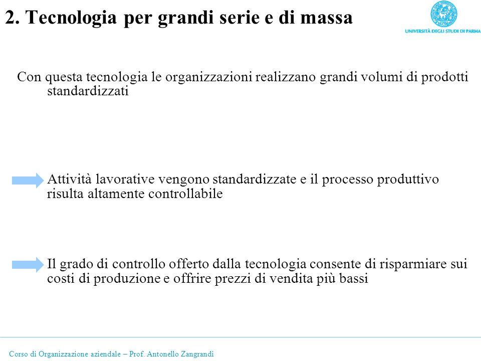 2. Tecnologia per grandi serie e di massa