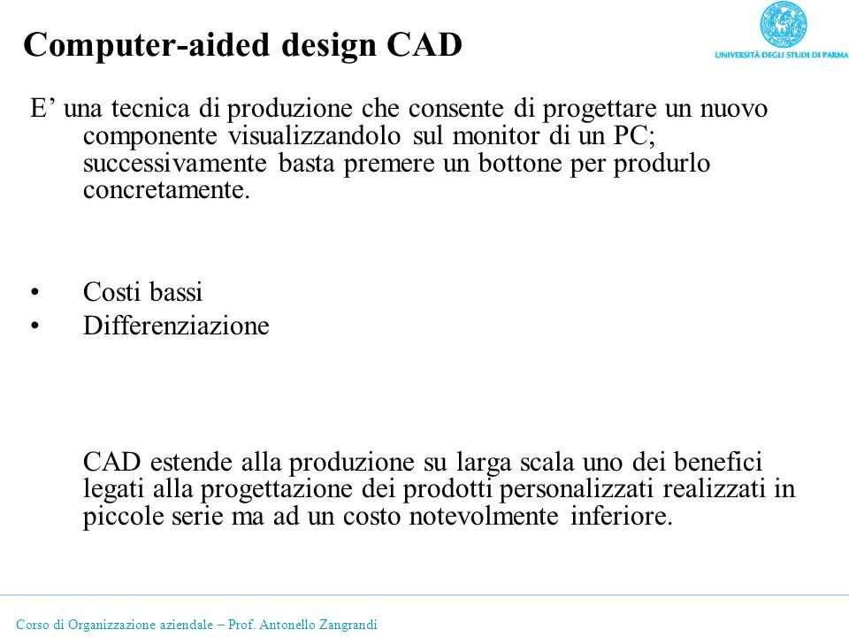 Computer-aided design CAD
