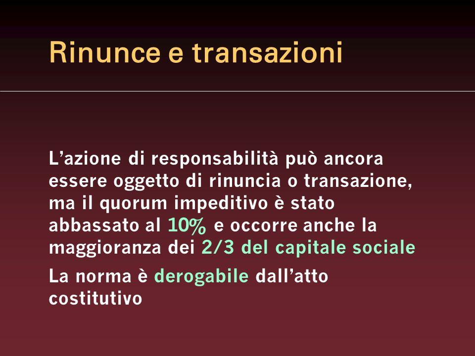 Rinunce e transazioni