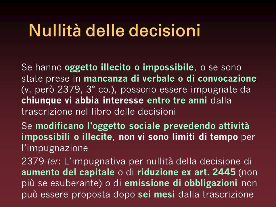 Nullità delle decisioni