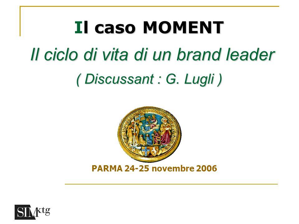 Il caso MOMENT Il ciclo di vita di un brand leader ( Discussant : G