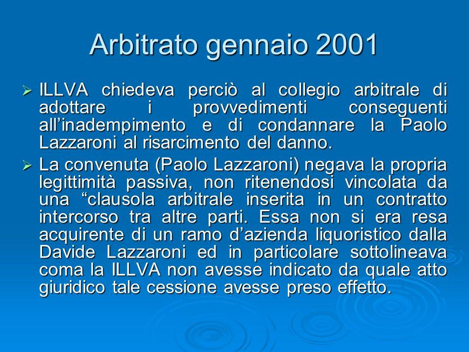 Arbitrato gennaio 2001