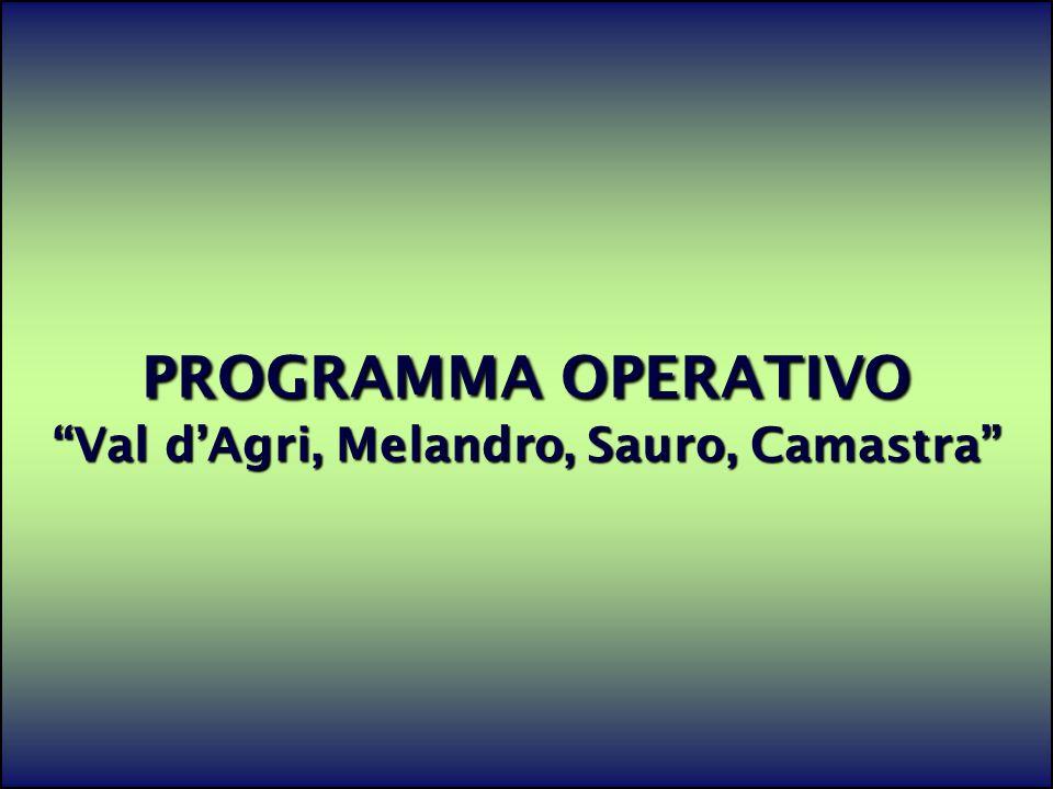 PROGRAMMA OPERATIVO Val d'Agri, Melandro, Sauro, Camastra