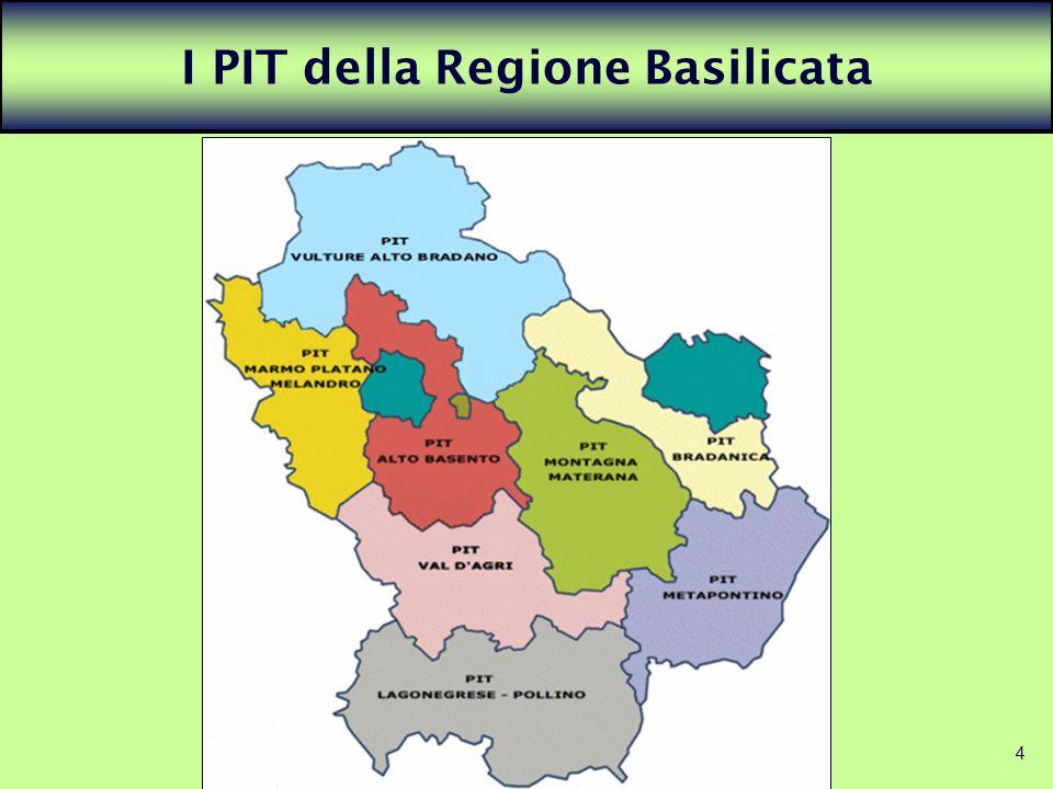 I PIT della Regione Basilicata