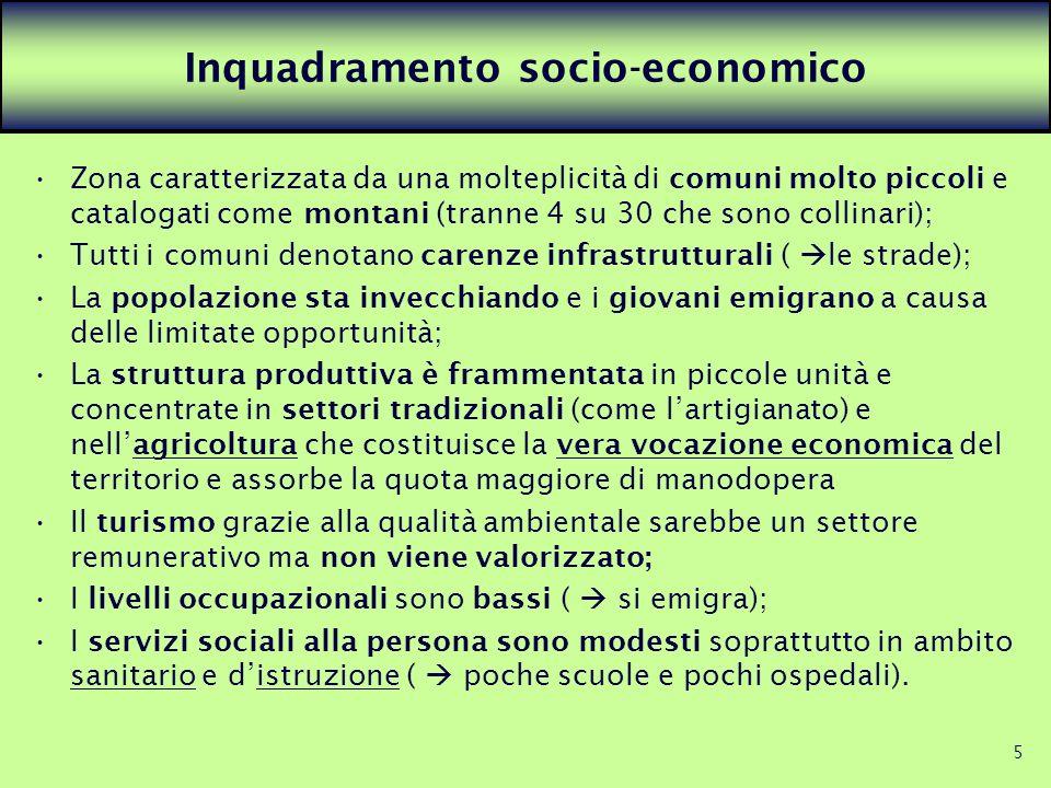 Inquadramento socio-economico