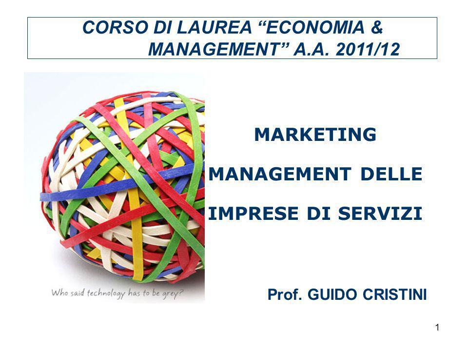 CORSO DI LAUREA ECONOMIA & MANAGEMENT A.A. 2011/12