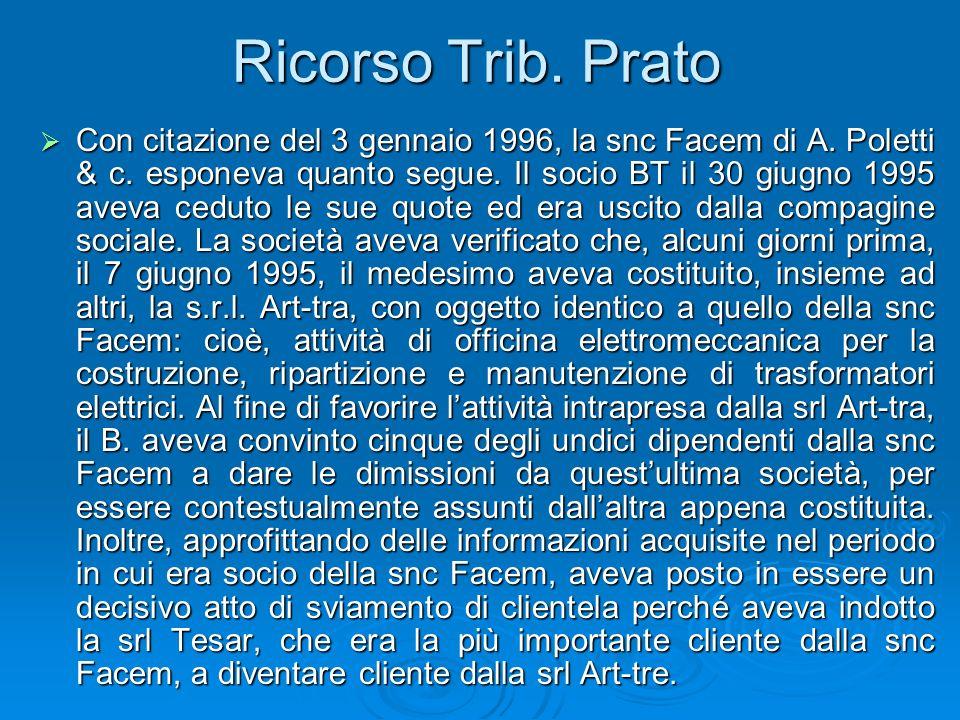 Ricorso Trib. Prato
