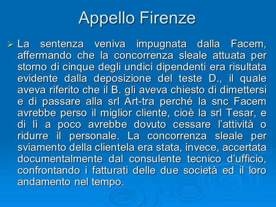 Appello Firenze