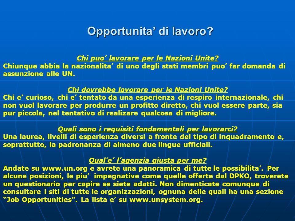 Opportunita' di lavoro