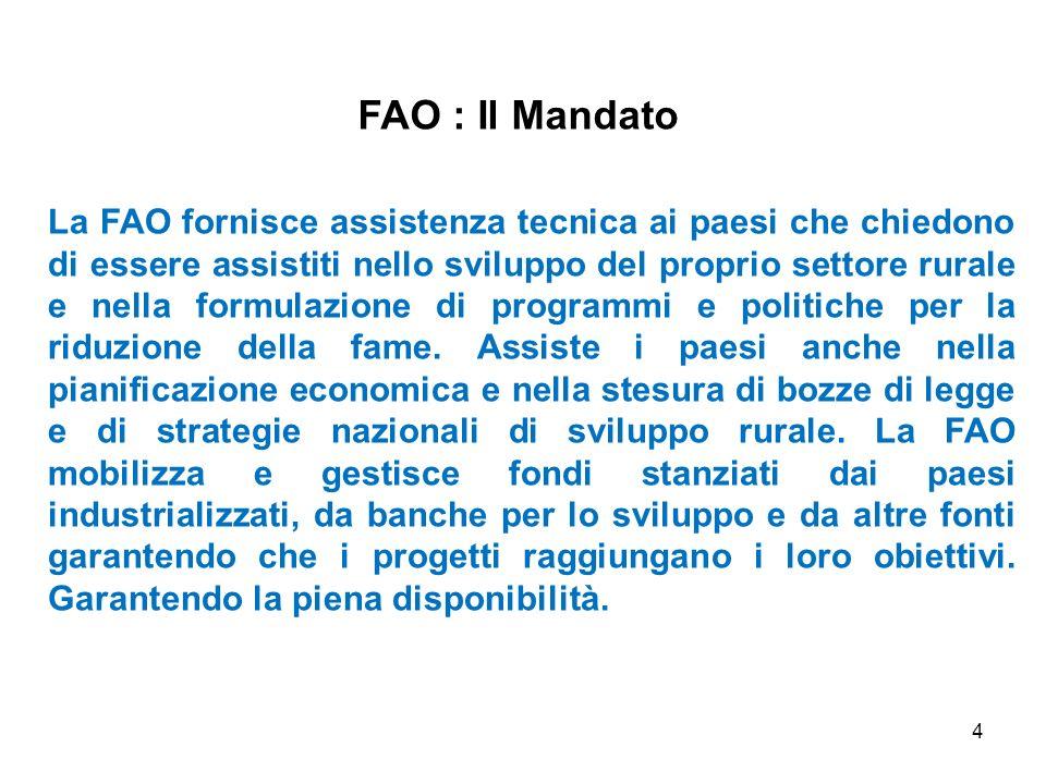 FAO : Il Mandato