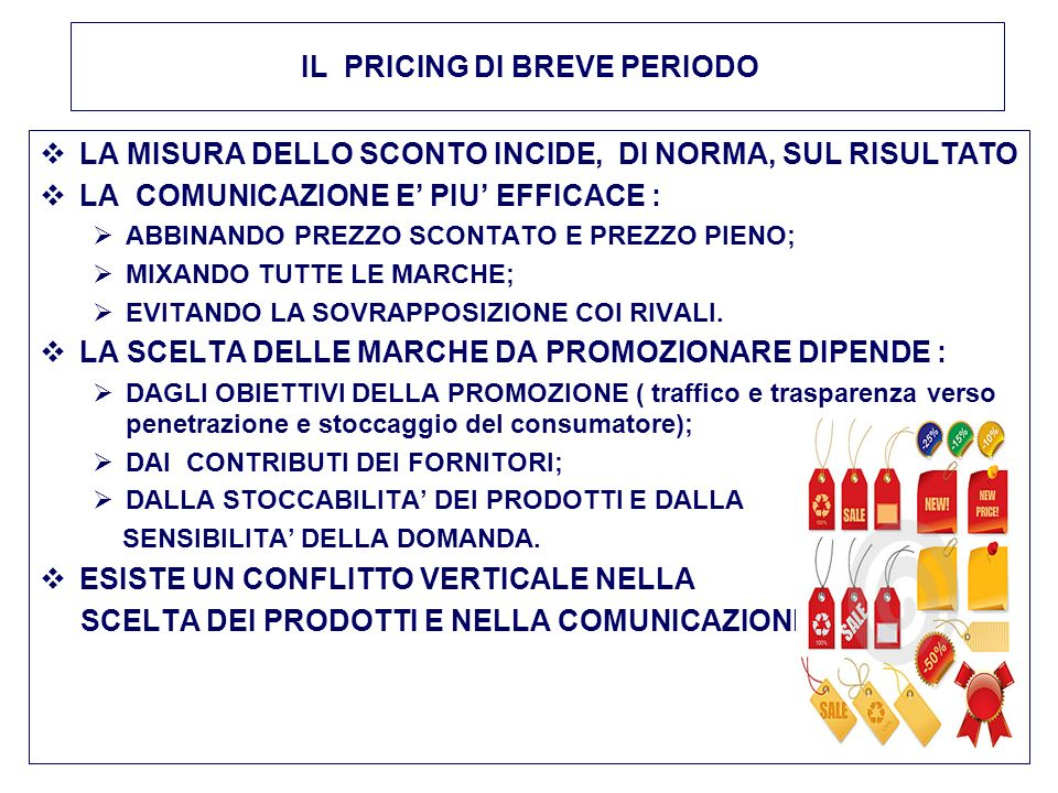 IL PRICING DI BREVE PERIODO