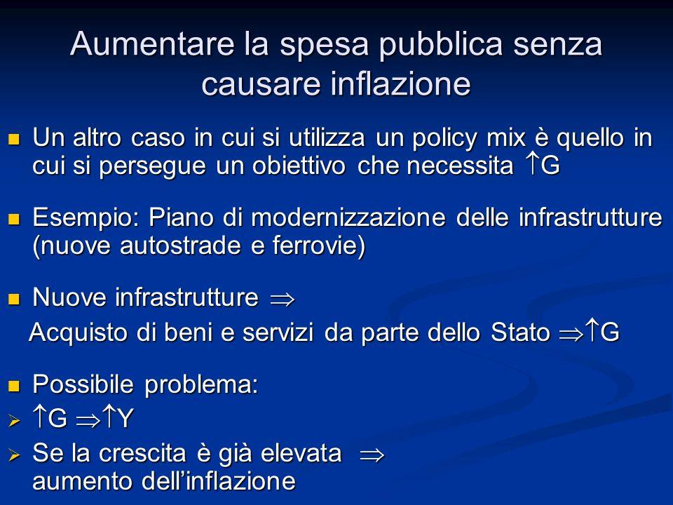 Aumentare la spesa pubblica senza causare inflazione