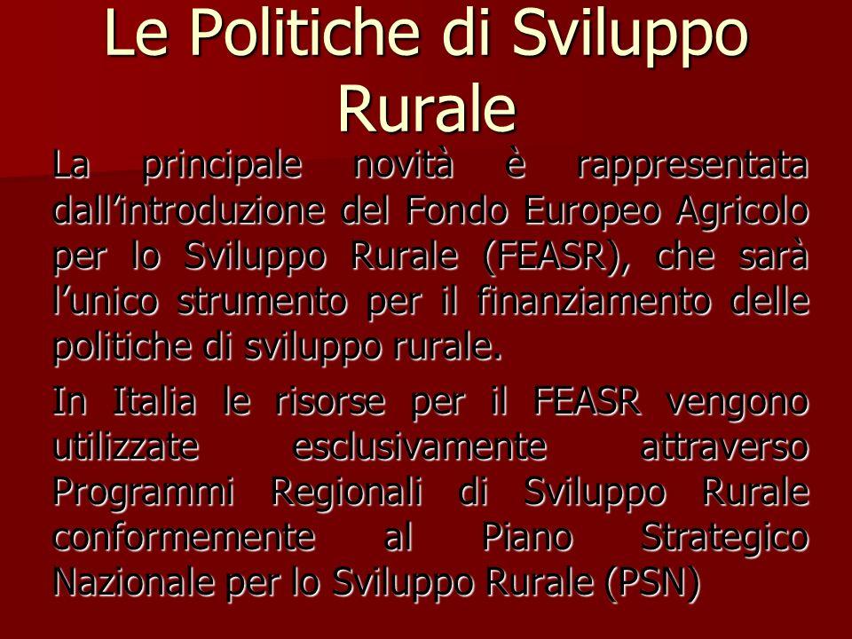 Le Politiche di Sviluppo Rurale