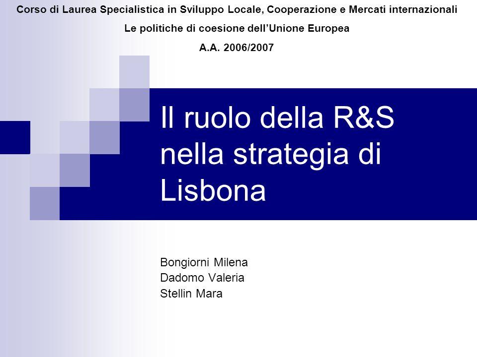 Il ruolo della R&S nella strategia di Lisbona