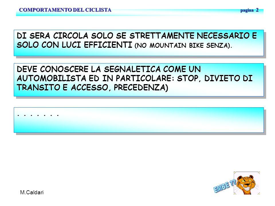 COMPORTAMENTO DEL CICLISTA pagina 2