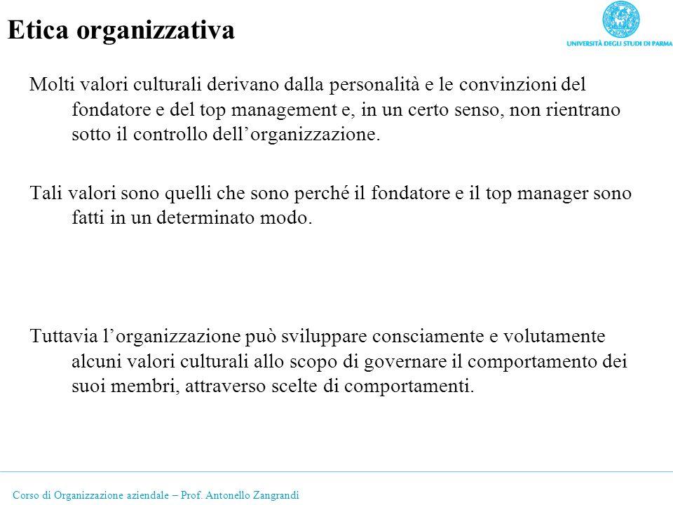 Etica organizzativa