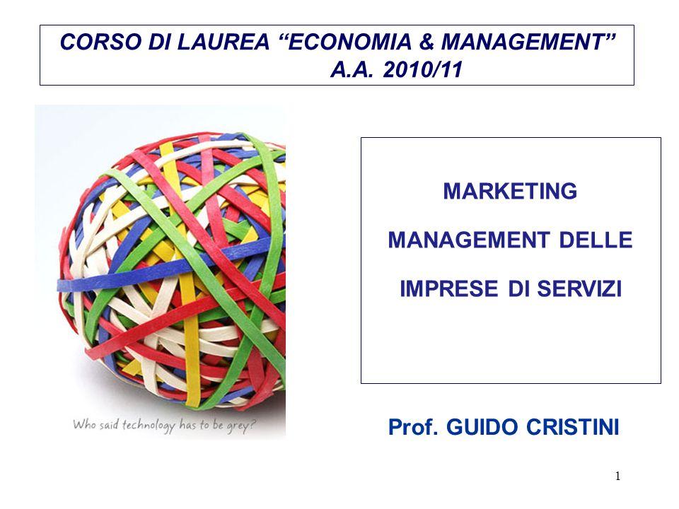 CORSO DI LAUREA ECONOMIA & MANAGEMENT A.A. 2010/11
