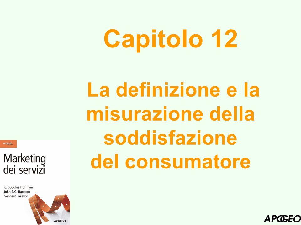 Capitolo 12 La definizione e la misurazione della soddisfazione del consumatore