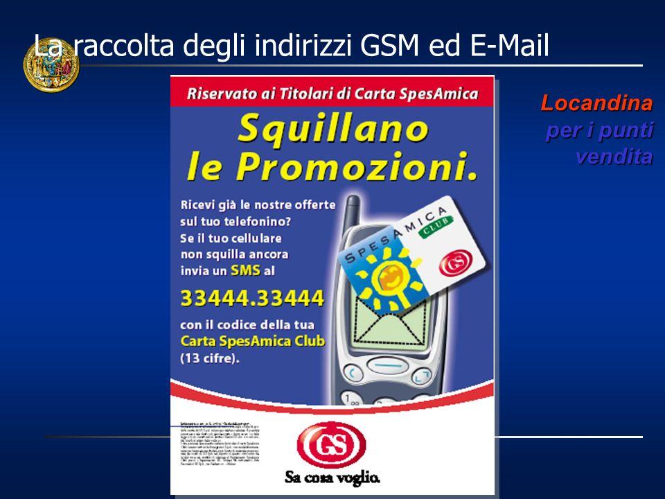 La raccolta degli indirizzi GSM ed E-Mail
