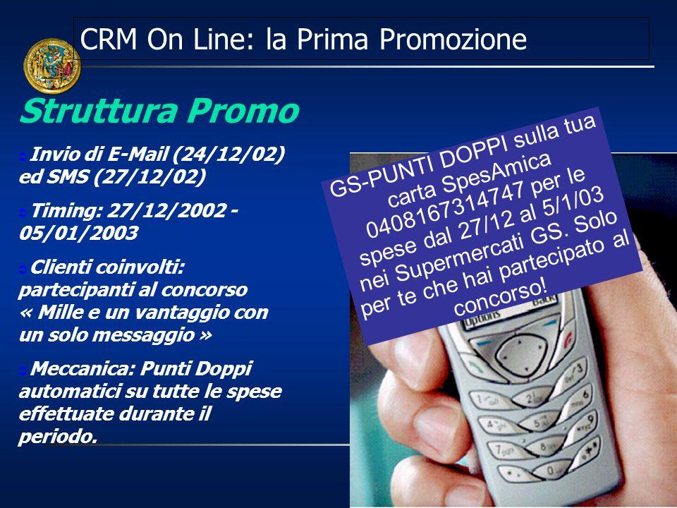 CRM On Line: la Prima Promozione
