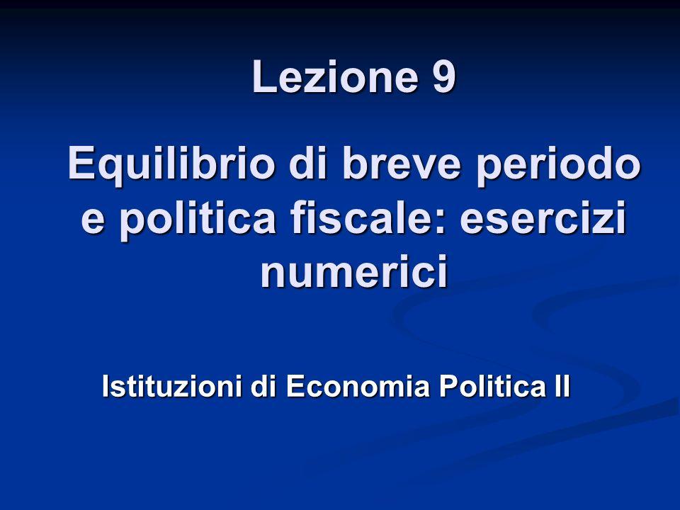 Istituzioni di Economia Politica II