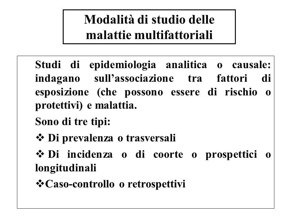 Modalità di studio delle malattie multifattoriali