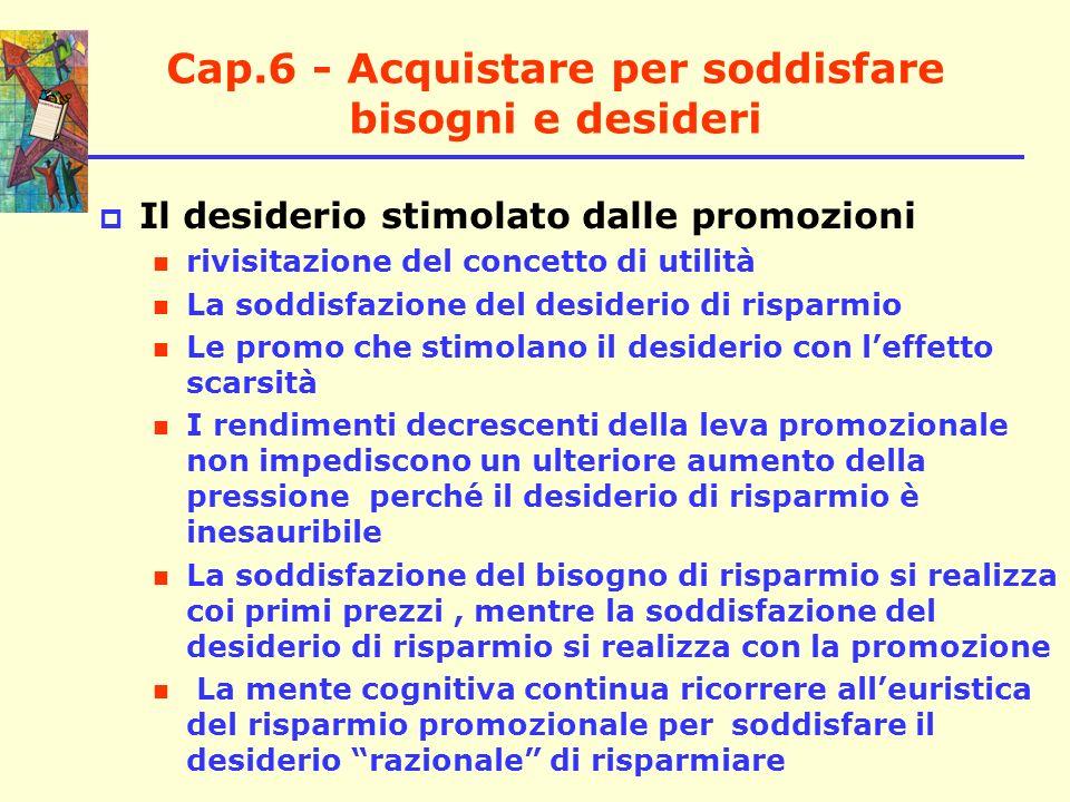 Cap.6 - Acquistare per soddisfare bisogni e desideri