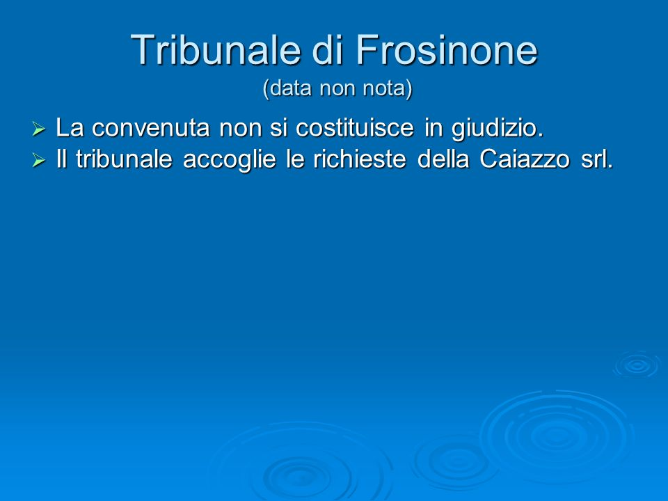 Tribunale di Frosinone (data non nota)