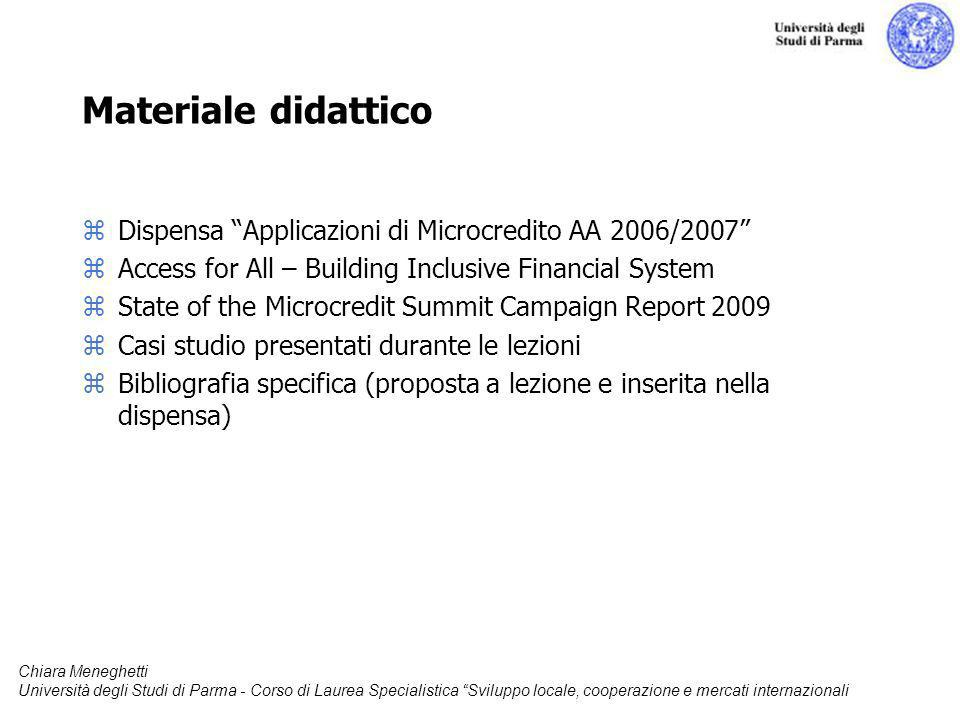 Materiale didattico Dispensa Applicazioni di Microcredito AA 2006/2007 Access for All – Building Inclusive Financial System.