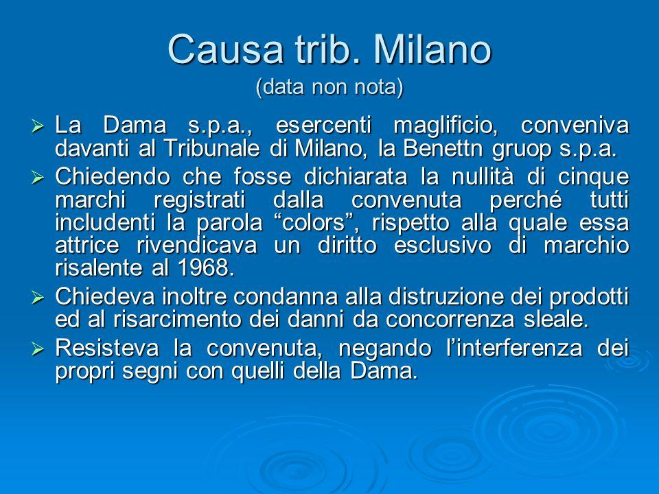 Causa trib. Milano (data non nota)