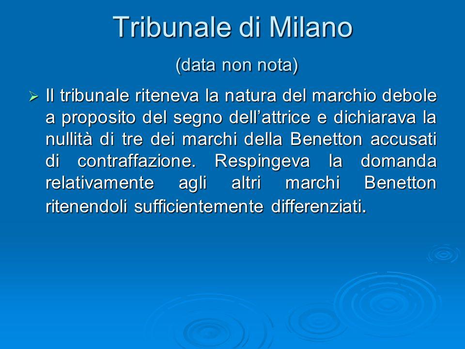 Tribunale di Milano (data non nota)