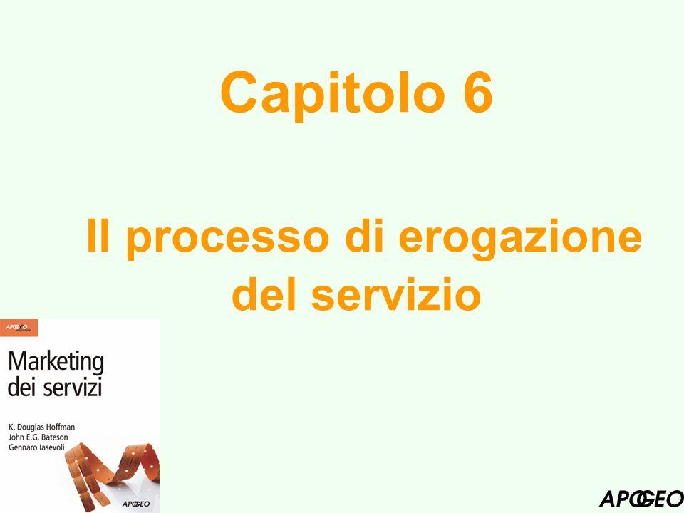 Capitolo 6 Il processo di erogazione del servizio