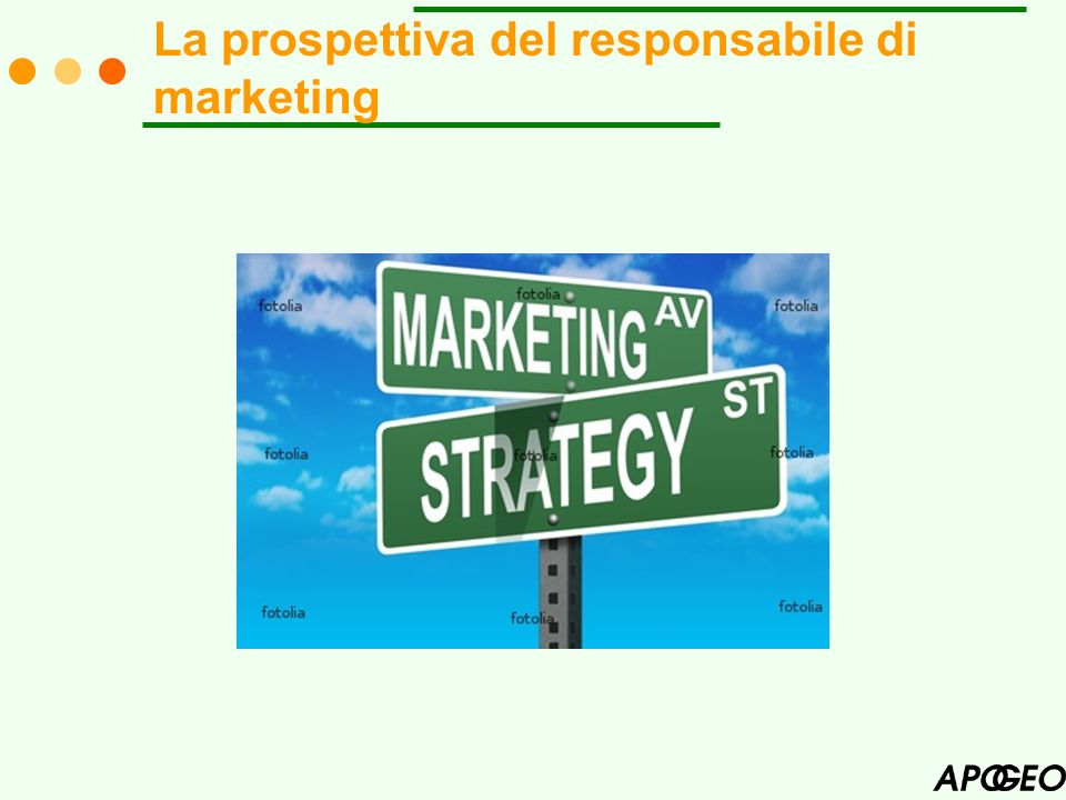 La prospettiva del responsabile di marketing