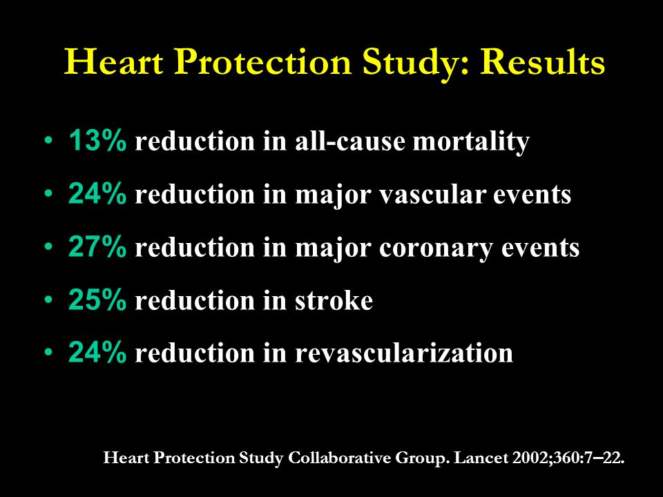 Heart Protection Study: Results