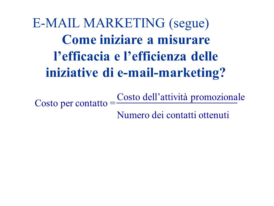 E-MAIL MARKETING (segue)