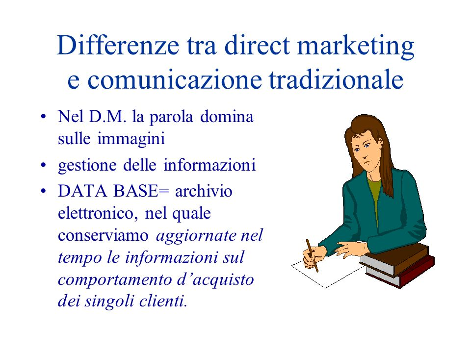 Differenze tra direct marketing e comunicazione tradizionale
