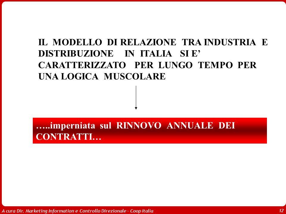 IL MODELLO DI RELAZIONE TRA INDUSTRIA E DISTRIBUZIONE IN ITALIA SI E' CARATTERIZZATO PER LUNGO TEMPO PER UNA LOGICA MUSCOLARE