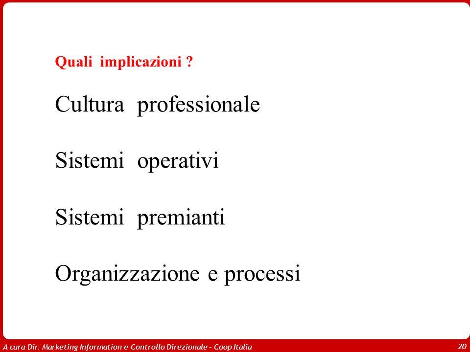 Cultura professionale Sistemi operativi Sistemi premianti
