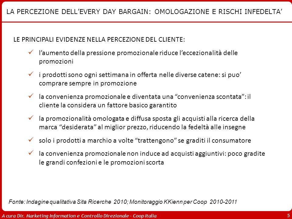 LA PERCEZIONE DELL'EVERY DAY BARGAIN: OMOLOGAZIONE E RISCHI INFEDELTA'