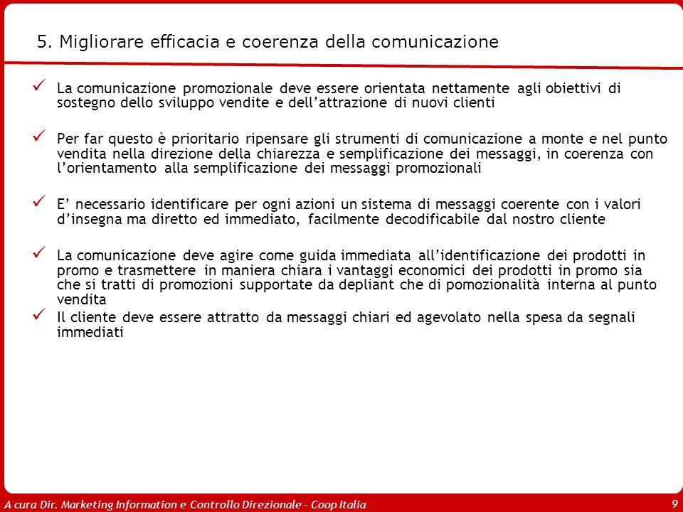 5. Migliorare efficacia e coerenza della comunicazione