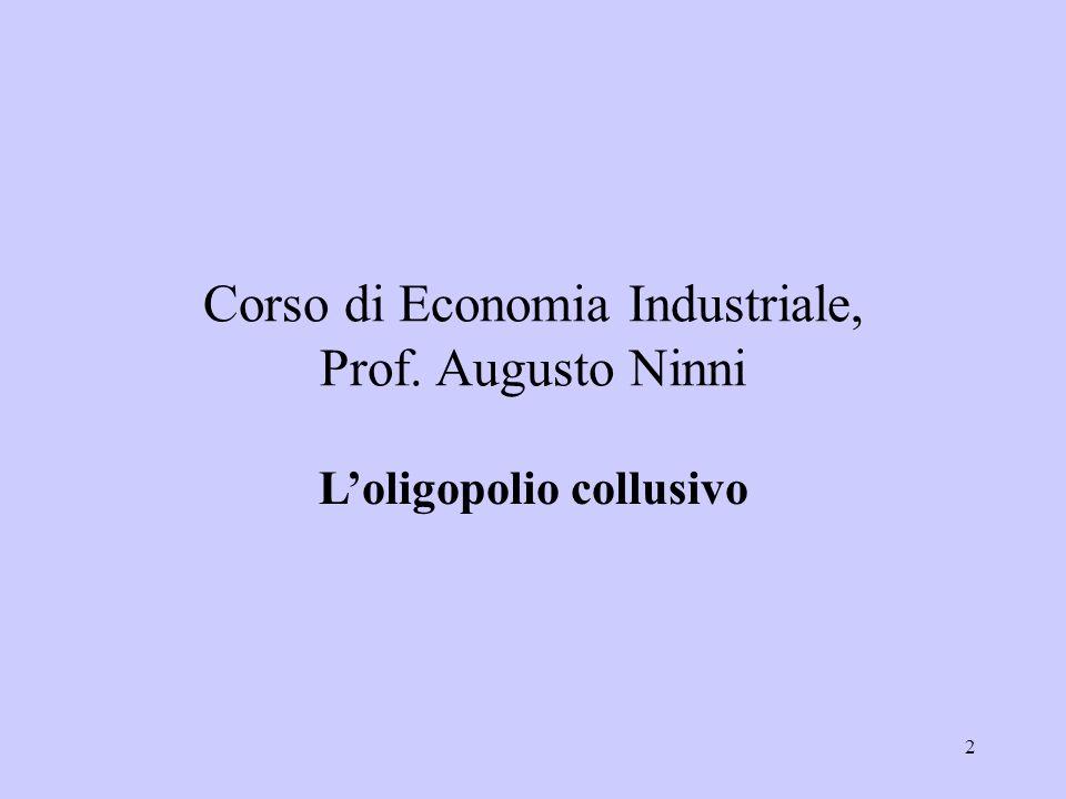 L'oligopolio collusivo