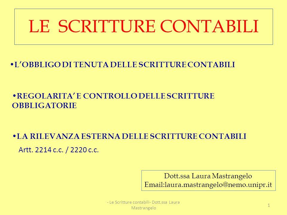 LE SCRITTURE CONTABILI