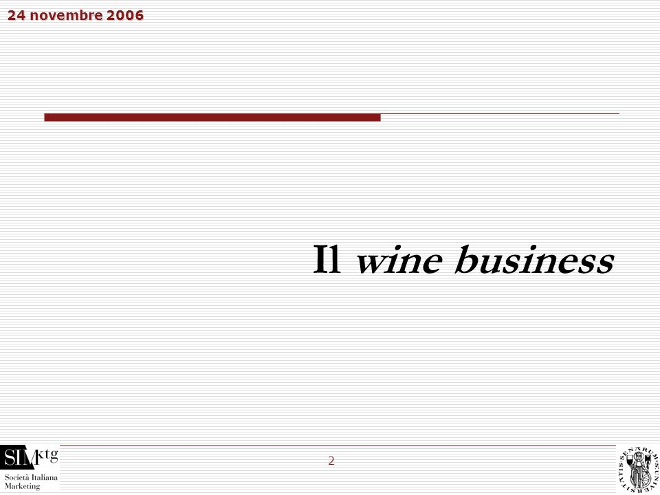 Il wine business