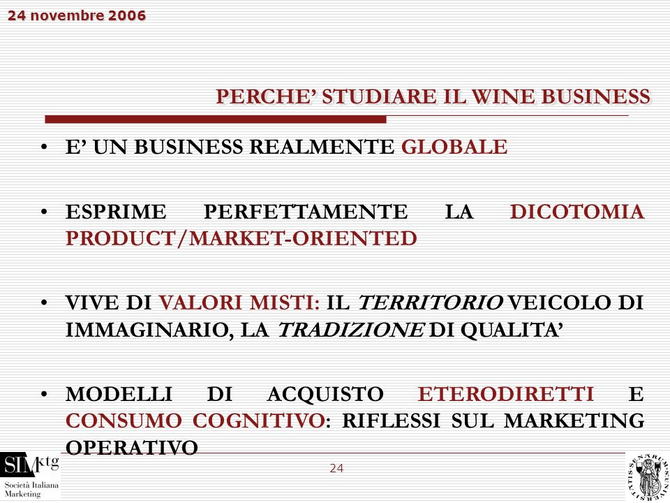 PERCHE' STUDIARE IL WINE BUSINESS