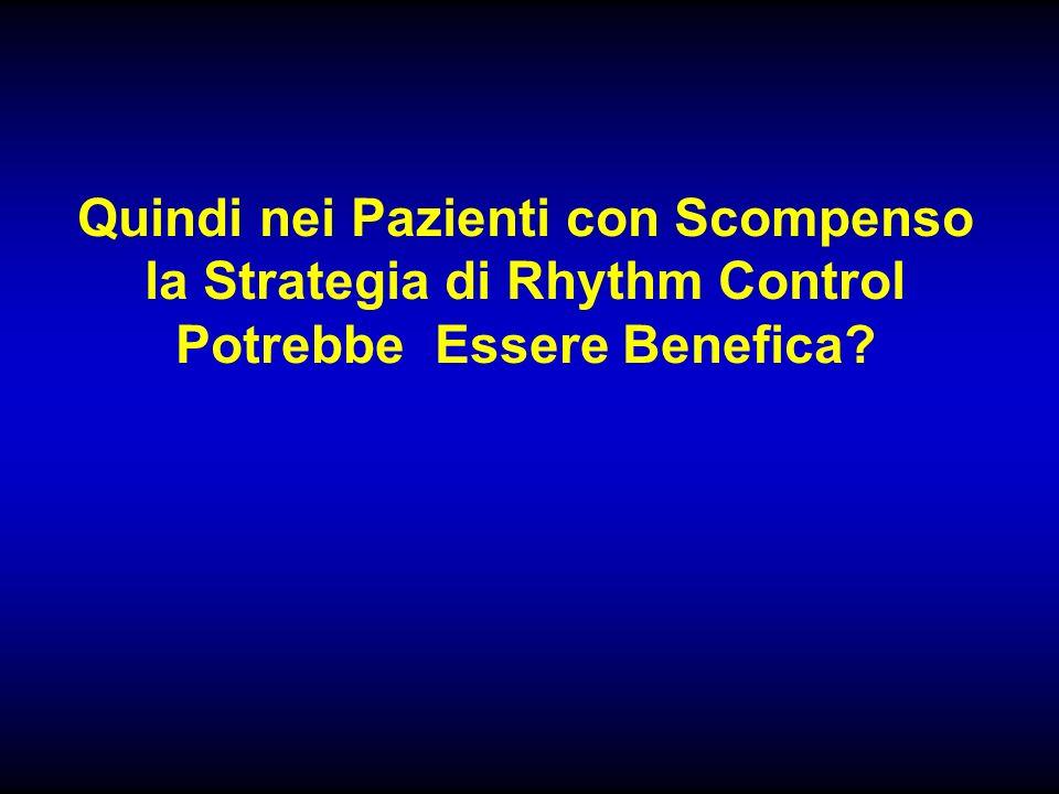 Quindi nei Pazienti con Scompenso la Strategia di Rhythm Control Potrebbe Essere Benefica