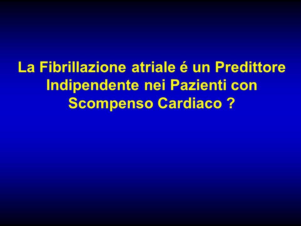La Fibrillazione atriale é un Predittore Indipendente nei Pazienti con Scompenso Cardiaco
