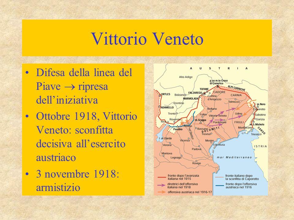 Vittorio Veneto Difesa della linea del Piave  ripresa dell'iniziativa