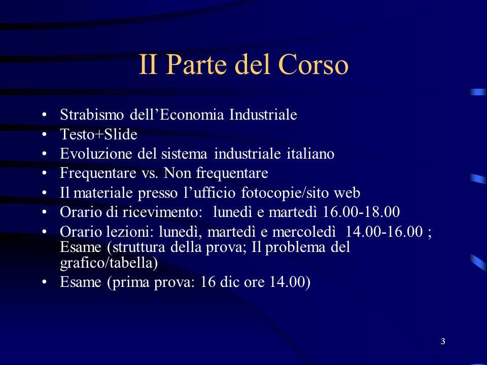 II Parte del Corso Strabismo dell'Economia Industriale Testo+Slide
