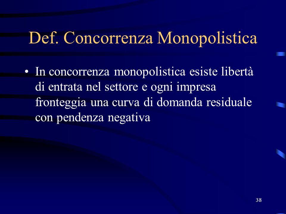 Def. Concorrenza Monopolistica